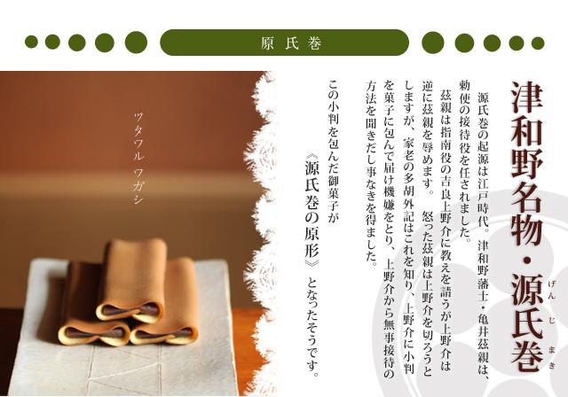 津和野名物 源氏巻 説明 和菓子処 三松堂
